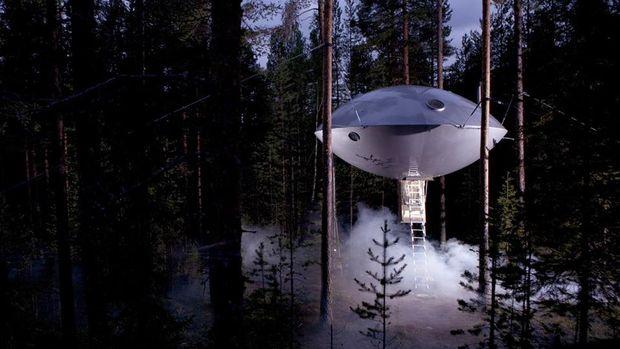 Kamar The UFO mirip UFO sungguhan (Treehotel)