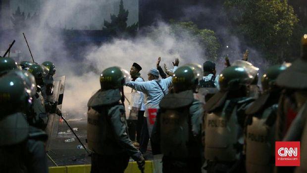 Demonstrasi 4 November berujung kericuhan.