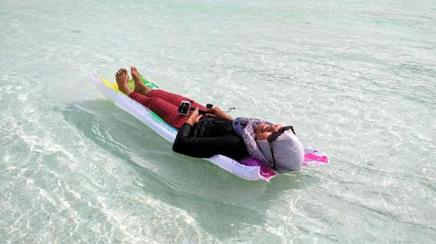 Bersantai seperti di pantai (Sukma/detikTravel)