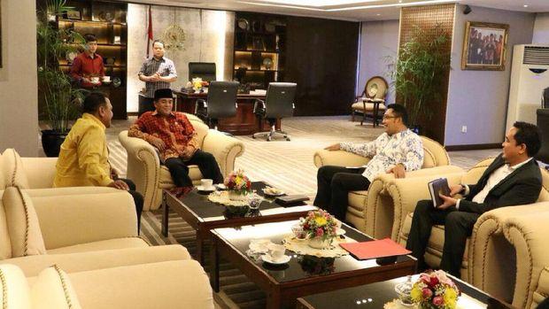 Suasana pertemuan di ruang Ketua DPR Ade Komarudin