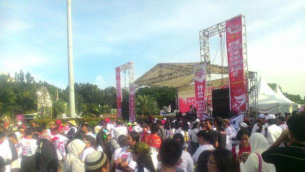 Ratusan Orang Ikuti Parade Bhinneka Tunggal Ika di Patung Kuda, Jakarta