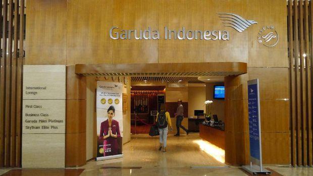 Pintu masuk lounge mewah Garuda Indonesia (Kurnia/detikTravel)
