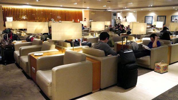 Nyamannya ruang tunggu Lounge Garuda Indonesia (Kurnia/detikTravel)