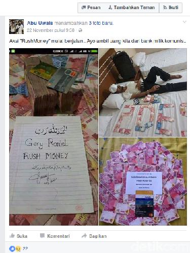 Jadi Tersangka Isu Rush Money, ini Postingan Abu Uwais di Facebook