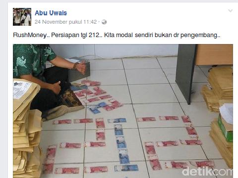 Abu Uwais Tersangka Rush Money Pamer Deretan Duit '212', Milik Siapa?