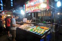 Aneka seafood di Liuhe Night Market (Wahyu/detikTravel)