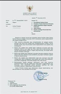 beredar surat arahan presiden jokowi soal kunjungan kerja