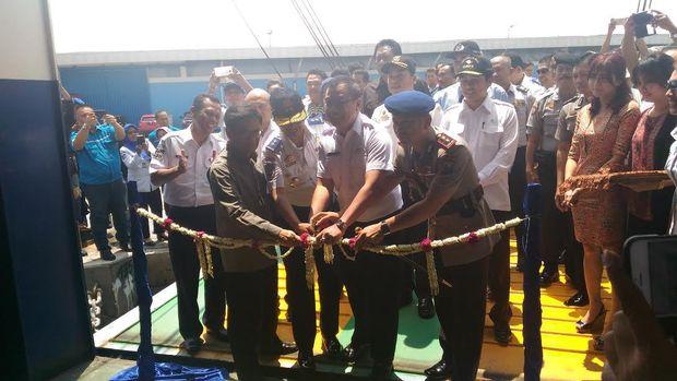Peresmian rute ferry Surabaya-Lombok (Imam/detikTravel)