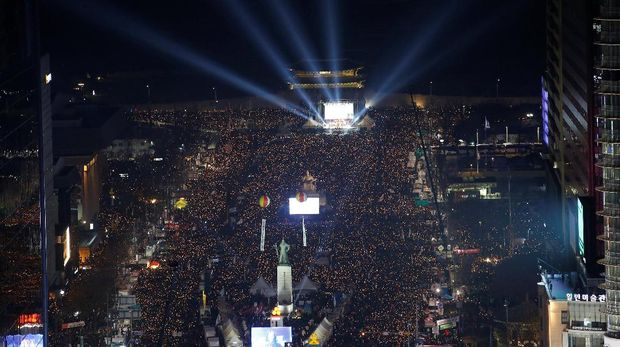 500 Ribu Demonstran Kembali Turun ke Jalan Desak Presiden Korsel Mundur