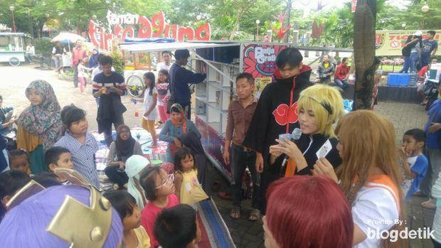 Ketika Naruto Ajak Anak-anak di Semarang Kurangi Main Gadget