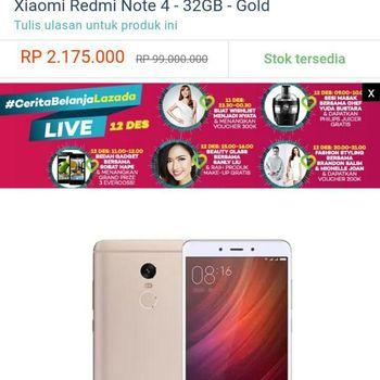 Redmi Note 4 Dijual Rp 99 Juta, Ini Tanggapan Lazada