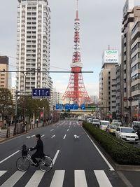 Tokyo Tower dari jalan raya (Elvan/detikTravel)