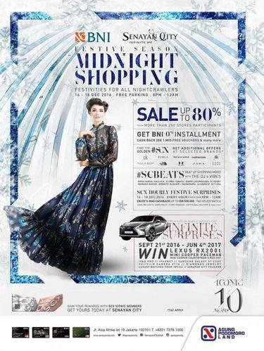 Serbu Midnight Sale di 6 Mal Jakarta Malam Ini, Diskon Hingga 80%