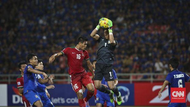 Fachruddin Aryanto mencetak gol ketiga Timnas Indonesia.