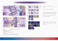 Uang rupiah pecahan kertas nominal Rp 10.000,-