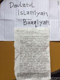 Ini Isi Pesan Surat Wasiat yang Ditemukan di Markas Teroris di Jatiluhur