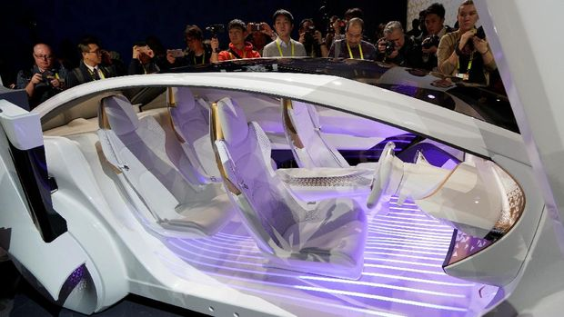 Bagian interior Toyota Concept-i