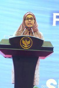 Foto: Gaya Jilbab Simpel Sri Mulyani Saat Berkunjung ke Aceh