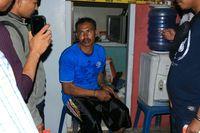 Pelaku pembunuhan Rafika, yakni Saleh (Muhammad Nur Abdurrahman/detikcom)