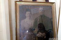 Potret Ratu Wilhelmina dari Belanda masih tersimpan di Istana Siak Sri Indrapura (Wahyu/detikTravel)