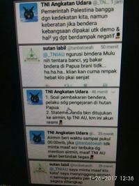 History percakapan Airmin dengan @tanbatoeah menjadi viral melalui broadcast. Dok. Istimewa
