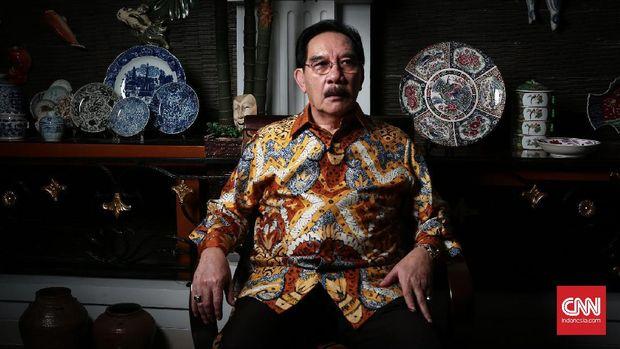 Antasari Azhar saat ditemui di kediamannya di Serpong Utara, Tangerang Selatan.