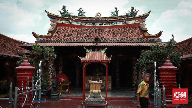 """Klenteng """"Boen Tek Bio"""" diperkirakan dibangun pada 1684 dan menjadi klenteng tertua di Tangerang yang saat ini berusia lebih dari 300 tahun."""