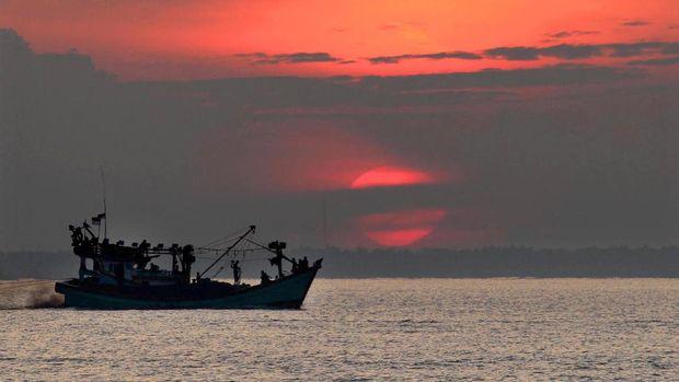 Salah satu kapal nelayan