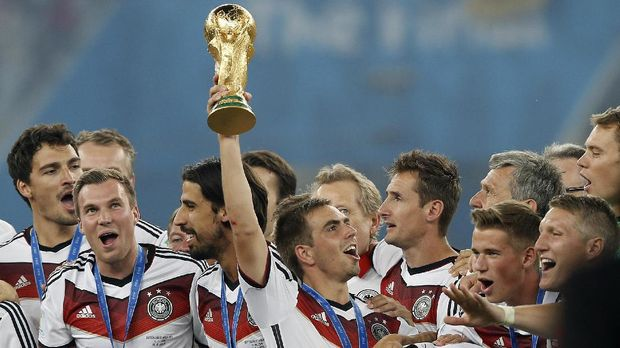 Timnas Jerman merupakan juara bertahan Piala Dunia.