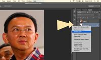 Layer background dibuang dengan klik kanan, 'delete layer'.