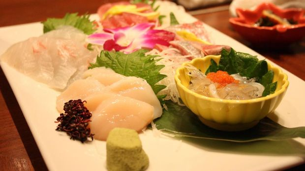 Aneka sashimi yg kelihatan lezat (Firdaus/detikTravel)