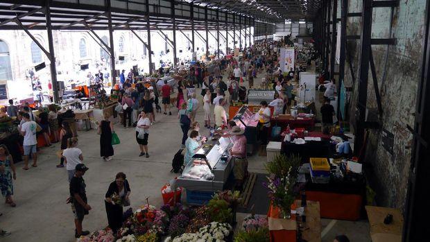 Penampakan pasar tradisional Carriageworks Farmer Market (Wahyu/detikTravel)