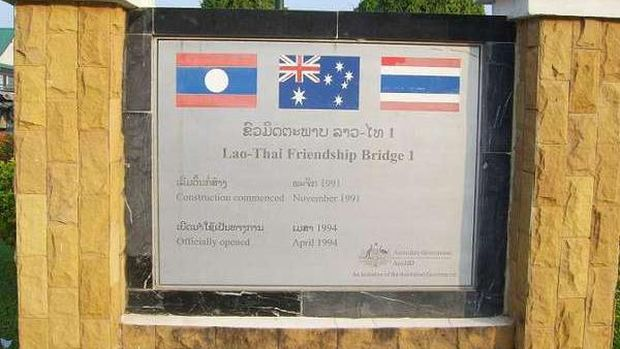 Plakat yg jadi penanda pembangunan jembatan (Masaul/detikTravel)