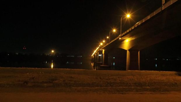 Friendship Bridge Thai-Lao di malam hari (Masaul/detikTravel)