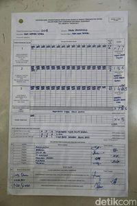 Penghitungan suara di Pulau Pramuka.
