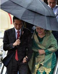 Jokowi gandeng Iriana di Sydney /