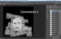 Menggandakan typography.