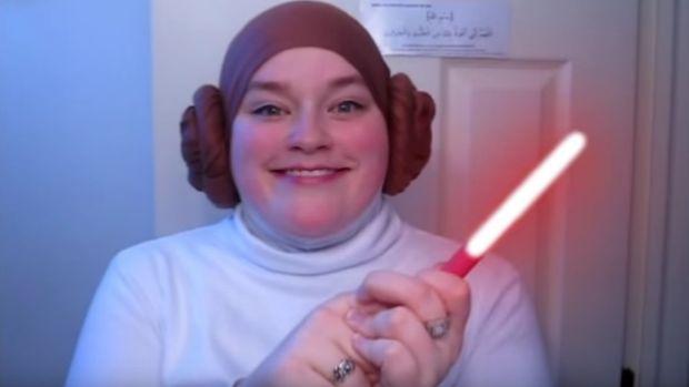 Tutorial Hijab Terinspirasi Princess Leia di Star Wars