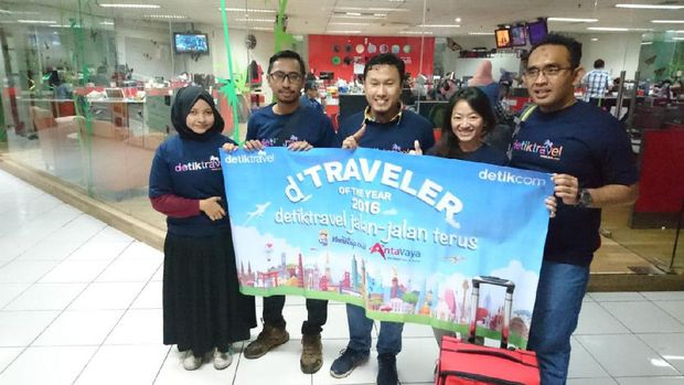 Para d'Traveler yg siap di kantor detikcom (Masaul/detikTravel)