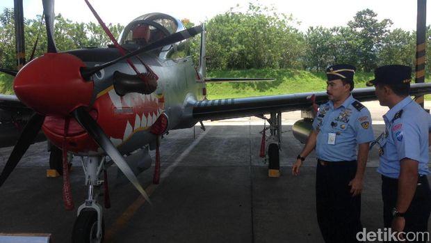 Super Tucano di Skadron Udara 21 Lanud Abdurahman Saleh