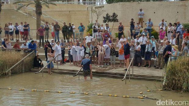 Situs pembaptisan baru yg berjarak tidak jauh dari lokasi asli (Hestiana/detikTravel)
