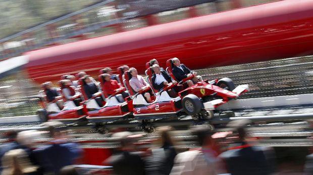 Ferrari Bangun Roller Coaster Super 'Ngebut' di Barcelona