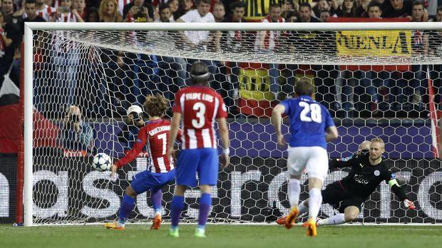 Penalti Griezmann Menangkan Atletico atas Leicester