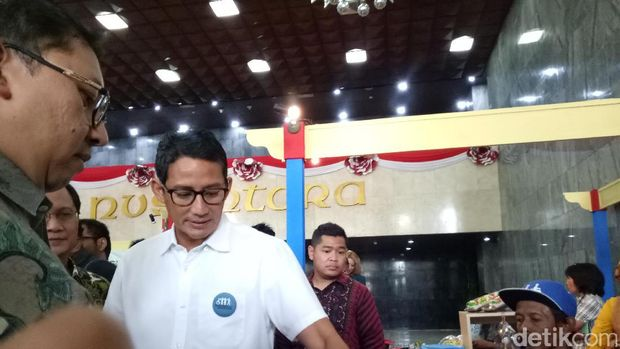 Sandiaga dan Fadli Zon di DPR /