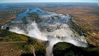 Victoria Falls dilihat dari atas (NAP/CNN)