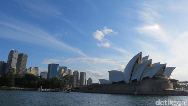 Sydney Opera House dilihat dari lautan (Fitraya/detikTravel)