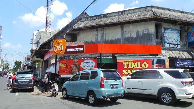 Warung Timlo Sastro di belakang Pasar Gede Solo (Wahyu/detikTravel)