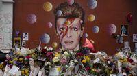 Bunga dari fans David Bowie.