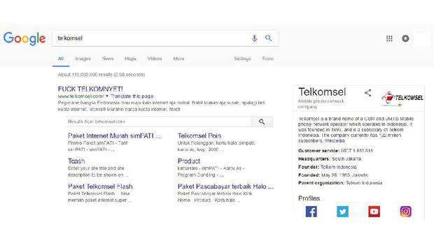 Situs Telkomsel Dibajak, Telkomsel Minta Maaf