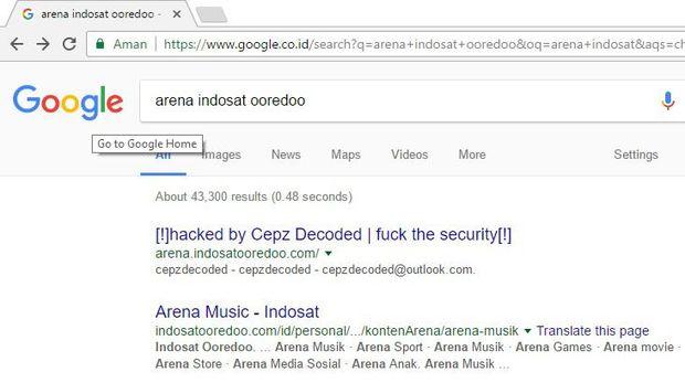 Subdomain Situs Indosat Ooredoo Diretas Hacker?